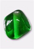 Perle en verre forme VH20 émeraude x8