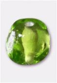 Perle en verre forme VH20 olivine x8