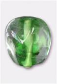 Perle en verre forme VF18 vert x4