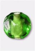 Perle en verre ronde VH21 vert x12