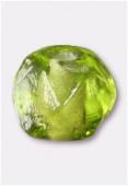Perle en verre ronde VH21 olivine x12