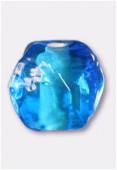 Perle en verre ronde VH21 turquoise x12