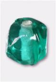 Perle en verre ronde VH21 vert d'eau x12