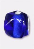 Perle en verre ronde VH21 bleu foncé x12