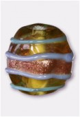Perle en verre forme VF20 kaki x2
