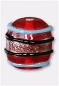 Perle en verre forme VF20 rouge x2