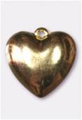 Coeur en résine 22 mm or x1