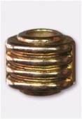 Tonnelet strié en résine 17x15 mm or x1