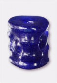 Perle en verre forme VTD8 bleu foncé x2
