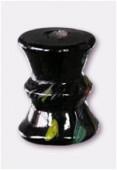 Perle en verre forme VB2 noir x1