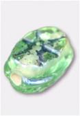 Perle en verre palet HRB5 vert clair irisé x12