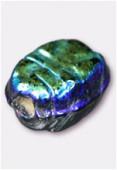 Perle en verre palet HRB5 noir irisé x12