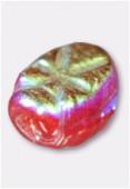 Perle en verre palet HRB5 rouge irisé x12