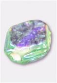 Perle en verre palet HRB7 vert clair irisé x12