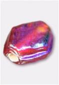 Perle en verre palet HRB7 rouge irisé x12