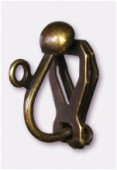 Clip boule 13x10 mm bronze x2