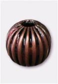 Perle en laiton ronde 6 mm cuivre x6