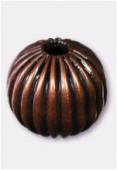 Perle en laiton ronde 8 mm cuivre x6