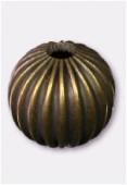 Perle en laiton ronde 8 mm bronze x6