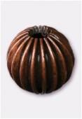 Perle en laiton ronde 10 mm cuivre x4