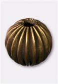 Perle en laiton ronde 10 mm bronze x4