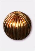 Perle en laiton ronde 14 mm or x2