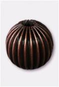 Perle en laiton ronde 14 mm cuivre x2