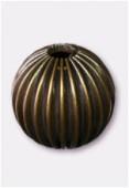 Perle en laiton ronde 14 mm bronze x2