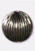 Perle en laiton ronde 30 mm argent vieilli x1