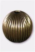 Perle en laiton ronde 30 mm bronze x1