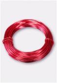 Fil en aluminium 1 mm rouge x12m