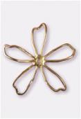 Estampe fleur pop découpée 56 mm or x1