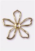 Estampe fleur pop découpée 35 mm or x1