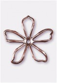 35mm Antiqued Copper Plated Cut ''Pop'' Flower Stamping x1