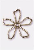 Estampe fleur pop découpée 35 mm bronze x1