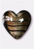 Feuille d'argent coeur 23 mm black diamond x1