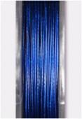 Fil cablé bleu foncé métallisé x10m