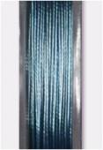 Fil cablé bleu métallisé x10m
