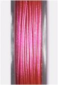 Fil cablé rose métallisé x10m