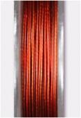 Fil cablé roux métallisé x10m
