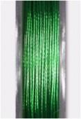 Fil cablé vert métallisé x10m