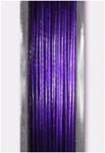 Fil cablé violet métallisé x10m