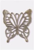Pendentif en métal papillon découpé 45x50 mm bronze x1