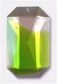 Pendentif octogonal 40x25 mm olivine x1