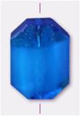 Palet octogonal 14x10 mm aquamarine x1