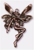 Pendentif en métal fée 45x30 mm cuivre x1