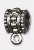 Attache breloque en métal 10x6 mm argent vieilli x2