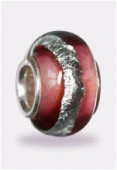Perle façon pandora rose/s12x7 mm x1