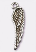Breloque en métal aile d'ange 26x7 mm argent vieilli x2