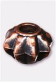 Intercalaire en résine citrouille 17x12 mm cuivre x1
